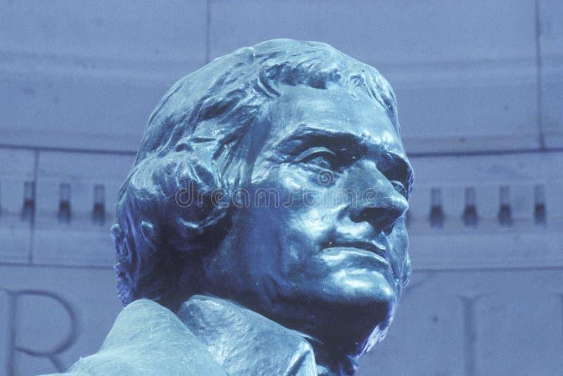 Escultura de Thomas Jefferson imagen de archivo libre de regalías