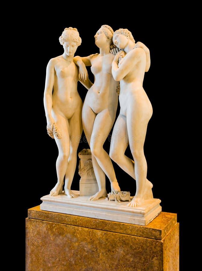 Escultura de tres tolerancias imágenes de archivo libres de regalías