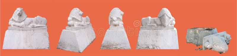 Escultura de um leão ilustração do vetor