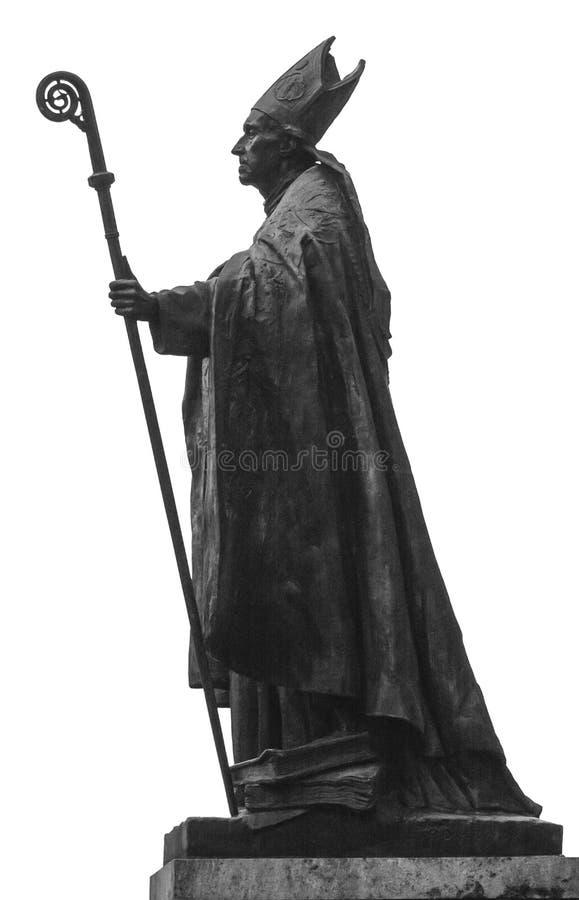 Escultura de um papa foto de stock royalty free