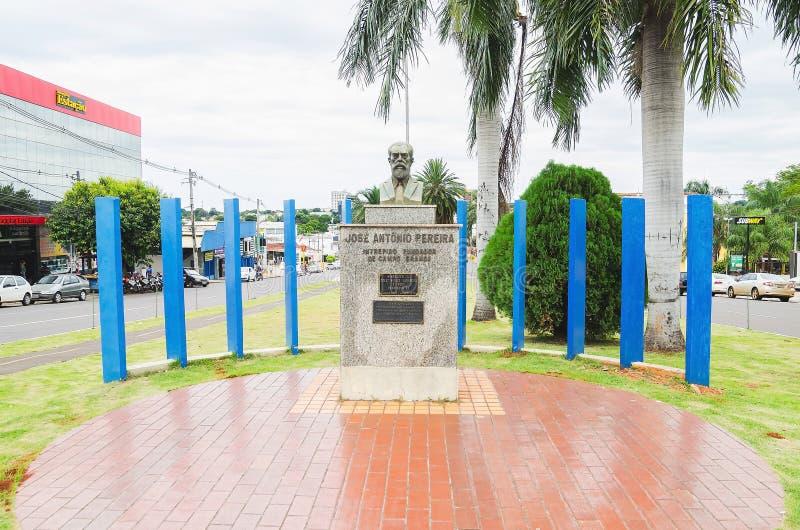 Escultura de un busto de Jose Antonio Pereira, el fundador del Ca foto de archivo libre de regalías