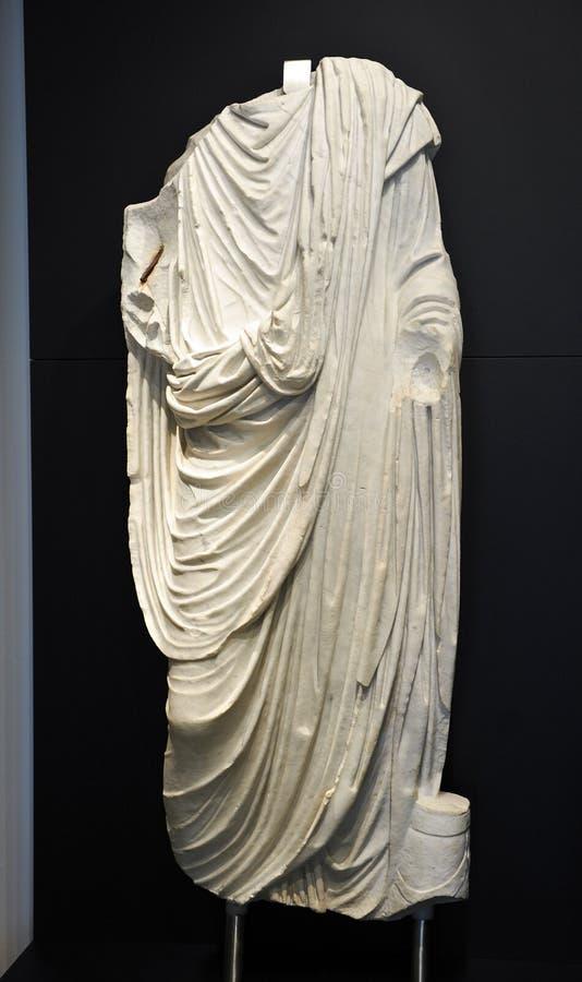 Escultura de un ciudadano romano fotografía de archivo