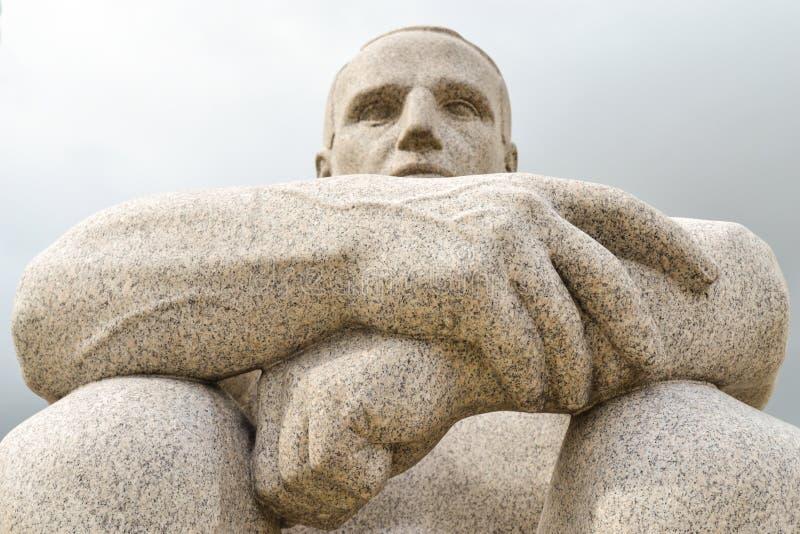 Escultura de un hombre fotos de archivo libres de regalías