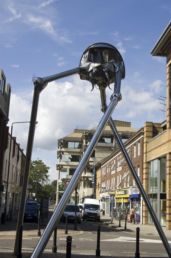 Escultura De Woking Marciano Foto de Stock Editorial