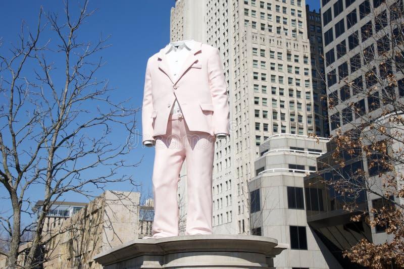 Escultura decapitado no parque do jardim da cidade, St Louis do centro, Missouri fotografia de stock royalty free
