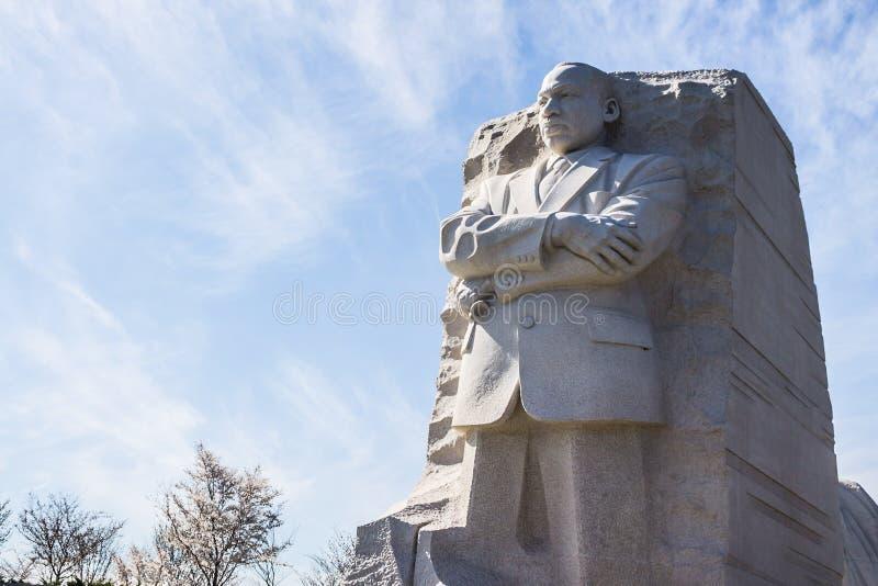 Escultura del activista Martin Luther King, JR de las derechas civiles imágenes de archivo libres de regalías