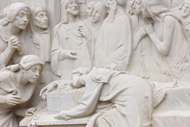 Escultura del amor y de la muerte Amantes de Teruel Cultura de la herencia de España imagen de archivo