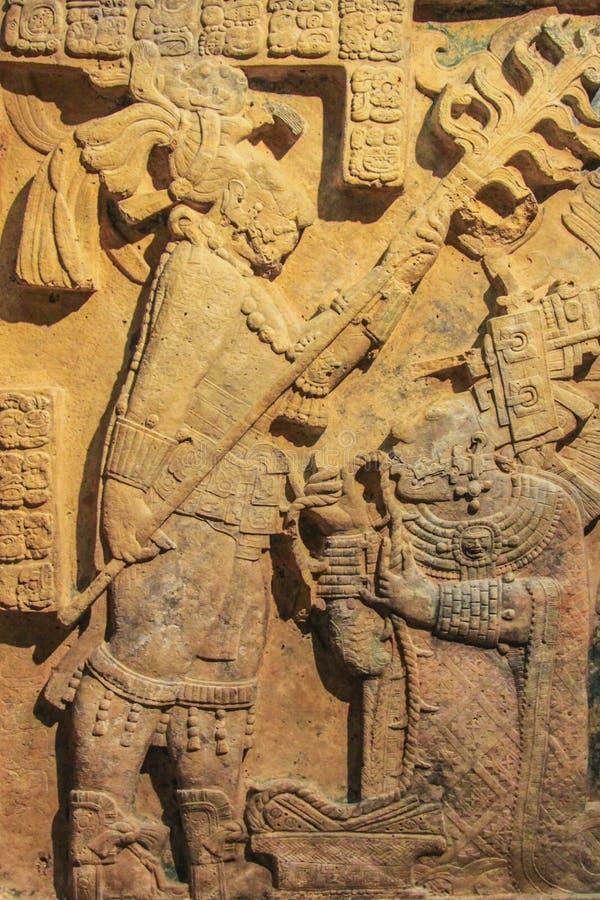 Escultura del arte del maya foto de archivo libre de regalías