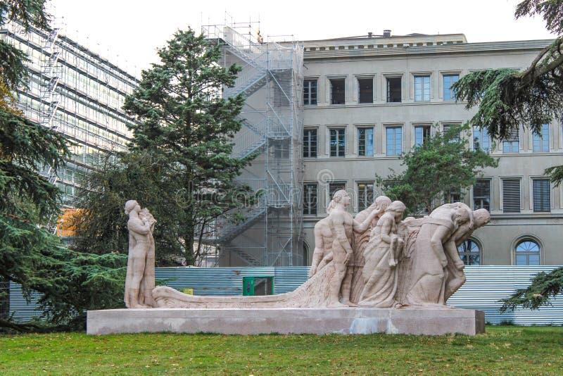 escultura del artista James Vibert fotos de archivo