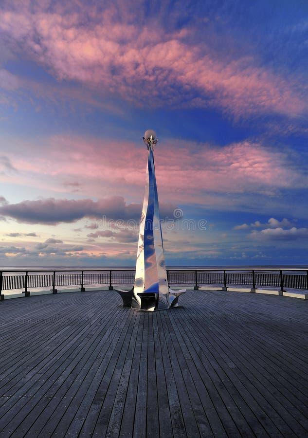 Escultura del embarcadero de Southport, Reino Unido foto de archivo libre de regalías