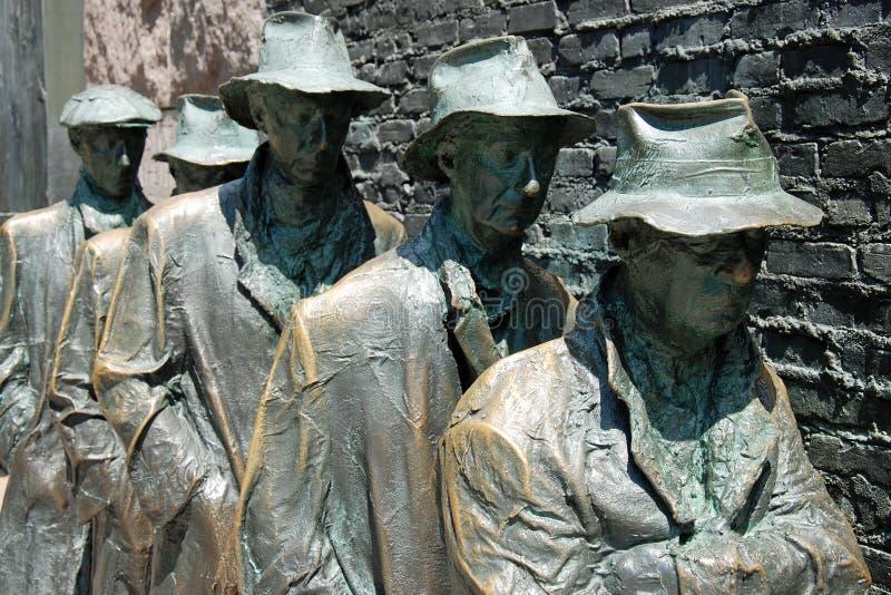 Escultura Del Hambre Del Monumento De Franklin Roosevelt Imagen editorial