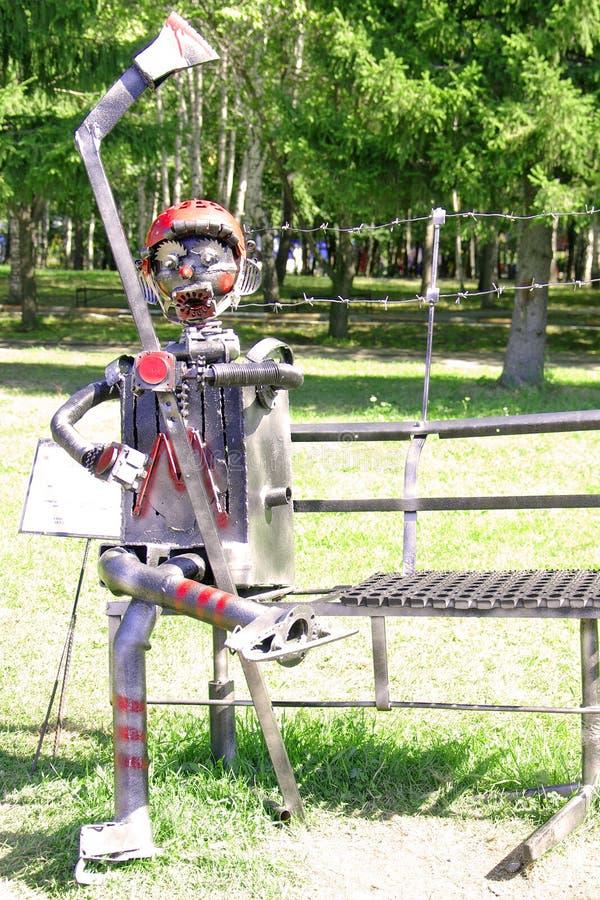 Escultura del hierro fotos de archivo