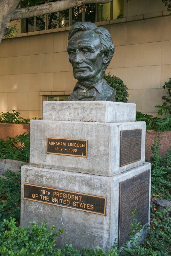 Escultura del Presidente de los Estados Unidos Abraham Lincoln fotos de archivo