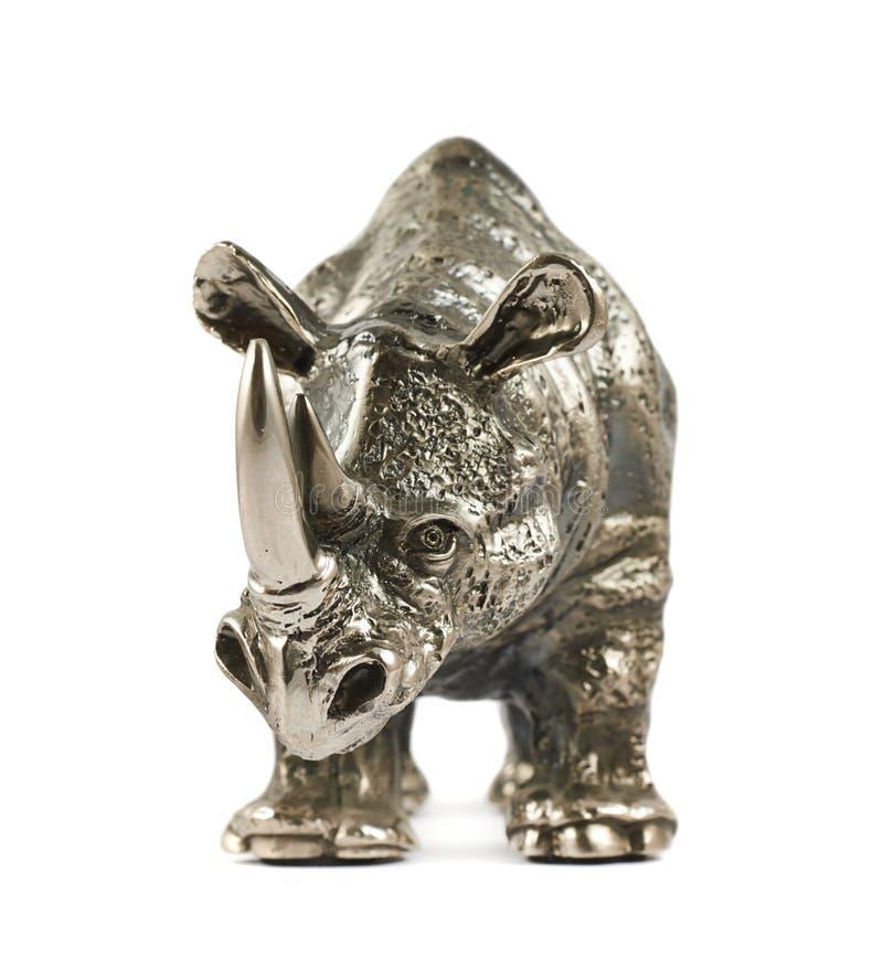 Escultura del rinoceronte del rinoceronte aislada imagen de archivo libre de regalías