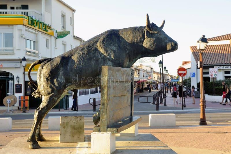 Escultura del toro de Vovo imágenes de archivo libres de regalías