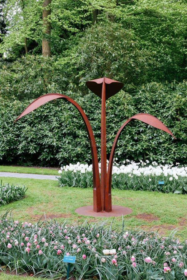 Escultura del tulipán fotografía de archivo libre de regalías