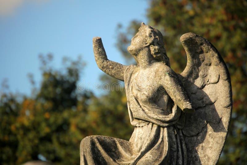 Escultura do anjo imagens de stock royalty free
