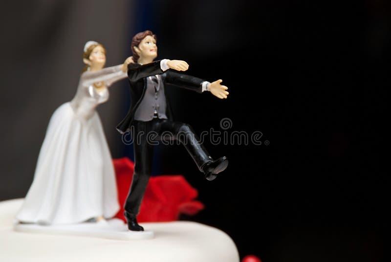 Escultura do bolo de casamento fotos de stock