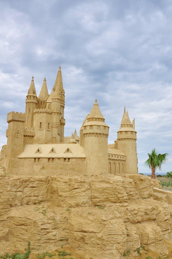 Escultura do castelo da areia fotos de stock royalty free