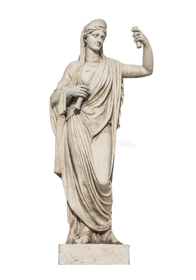 Escultura do deus Athena do grego clássico foto de stock royalty free