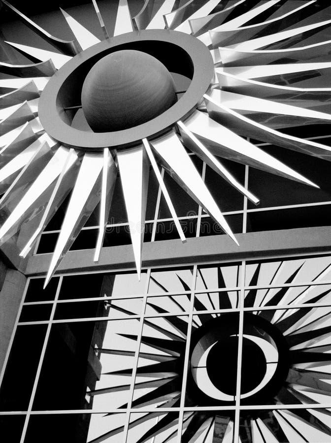 Escultura do edifício fotos de stock royalty free