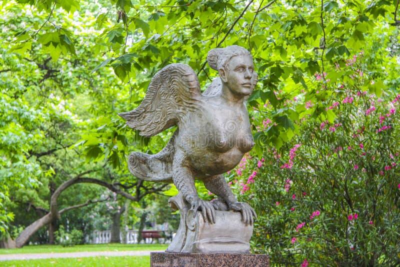 Escultura do grego phoenix foto de stock