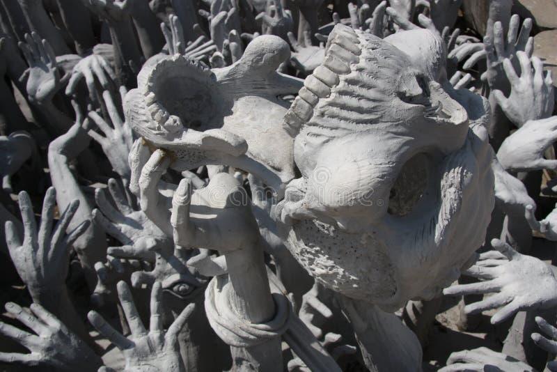 Escultura do inferno fotos de stock