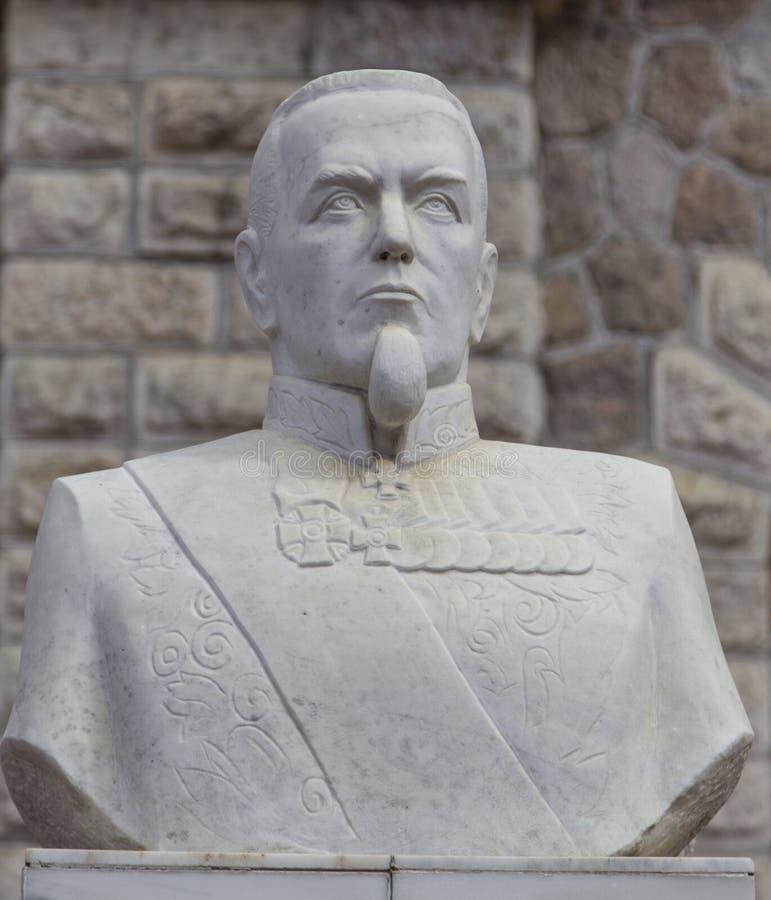 A escultura do kopf do monte na estação de trem do sludyanka, Federação Russa fotografia de stock royalty free