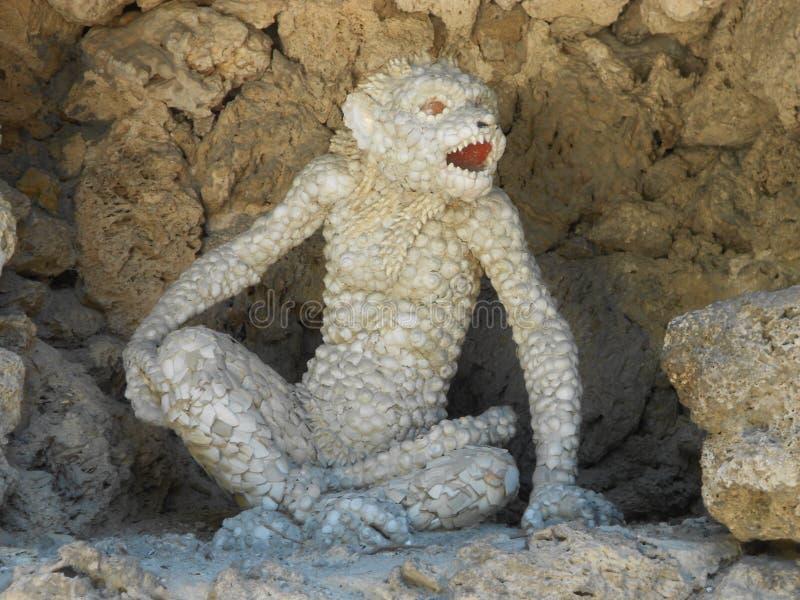 Escultura do macaco imagem de stock