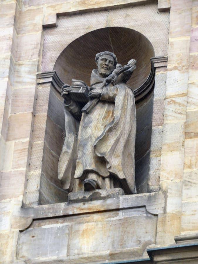 Escultura do monastério carmelita fotos de stock