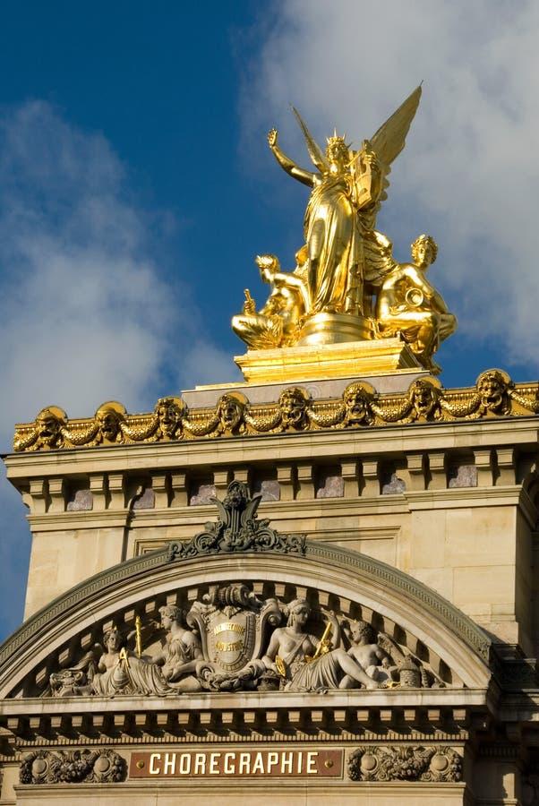 Escultura do teatro da ópera de Paris foto de stock
