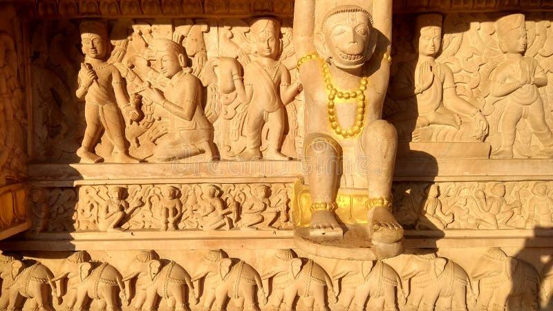 Escultura do templo de Hanuman imagens de stock royalty free