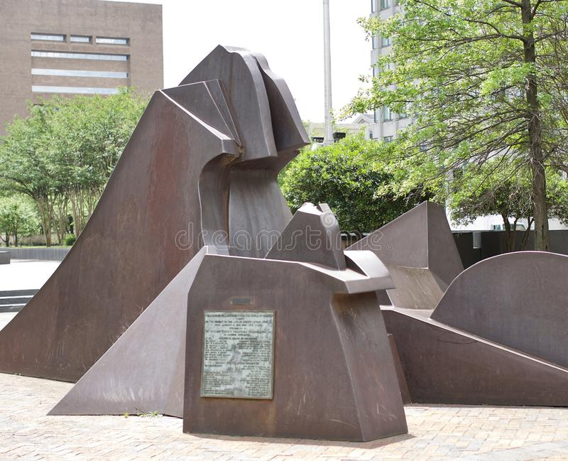 Escultura do tributo de MLK imagem de stock