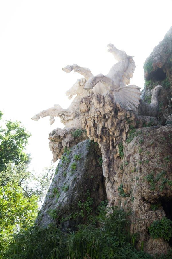 Escultura dos cavalos no parque de Ciutadella imagem de stock royalty free
