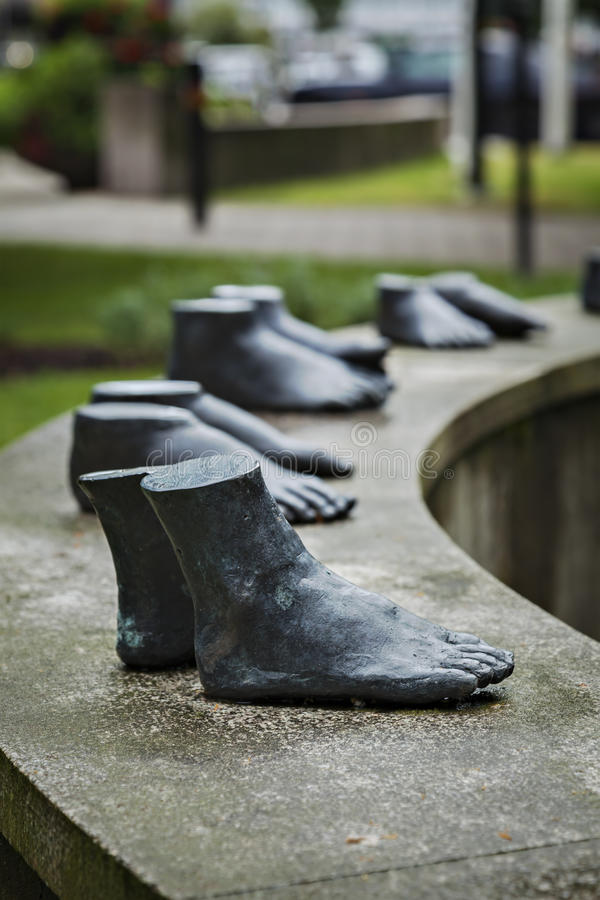 Escultura dos pés de Kungsbacka fotos de stock