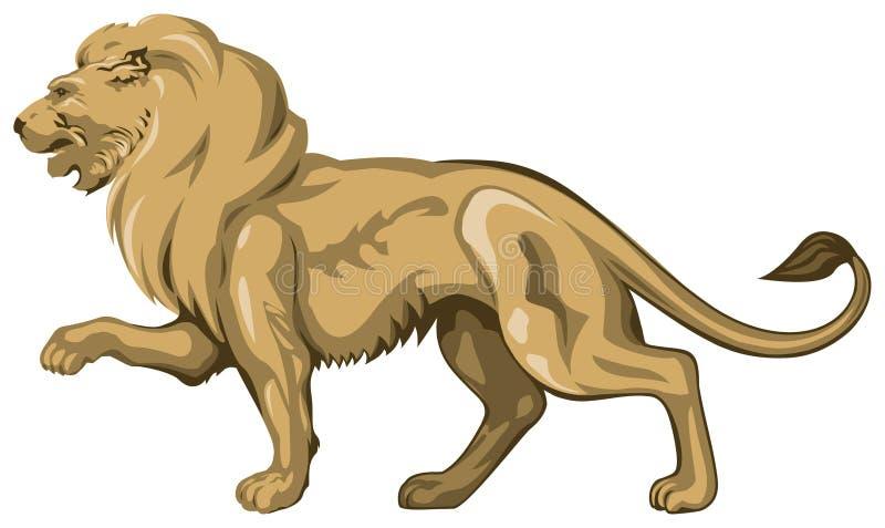 Escultura dourada do leão ilustração royalty free