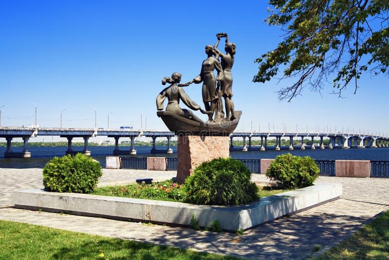 Escultura em Dnipropetrovsk, Ucrânia fotos de stock