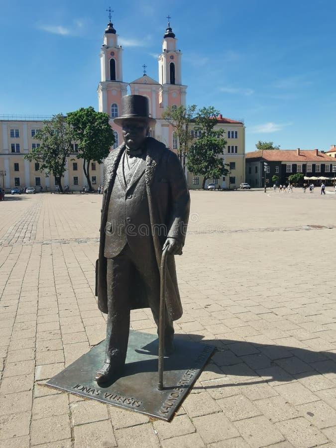 Escultura em Kaunas fotografia de stock royalty free