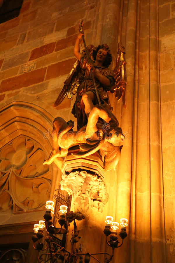 Escultura em Praga, república checa foto de stock royalty free