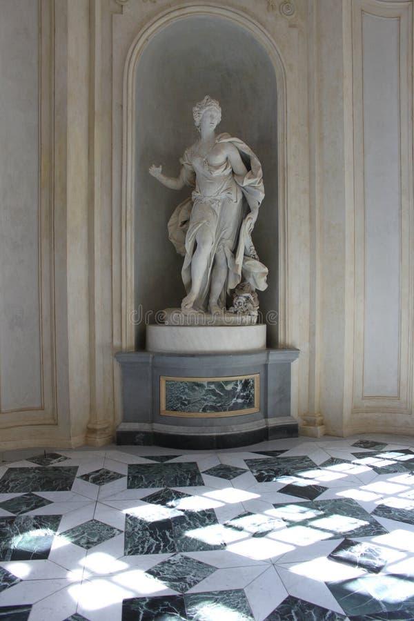 Escultura em Reggia di Venaria Reale fotografia de stock