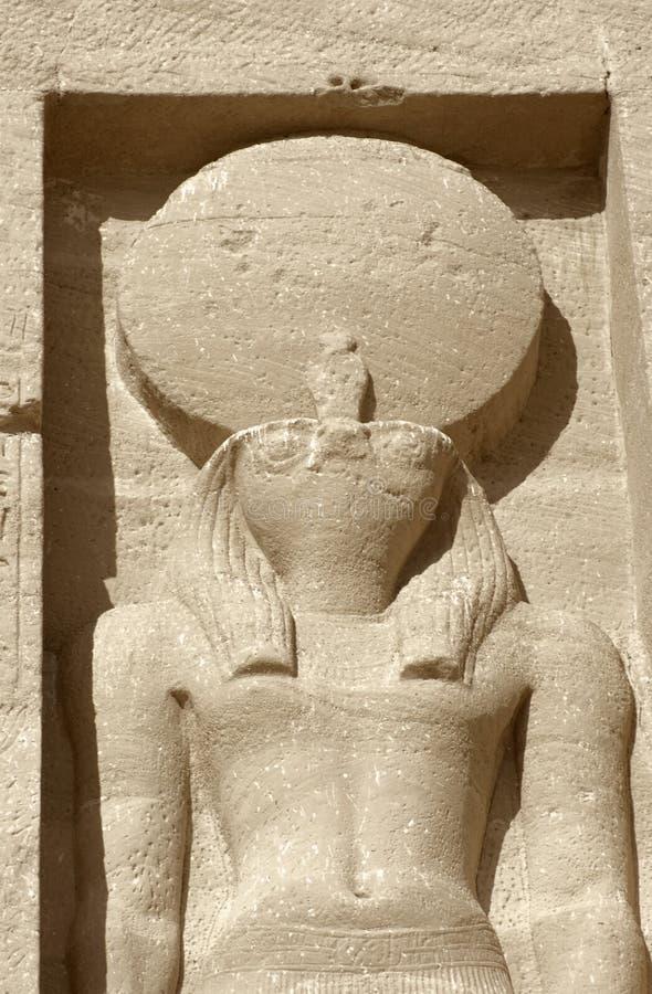 Escultura em templos de Abu Simbel em Egipto imagens de stock