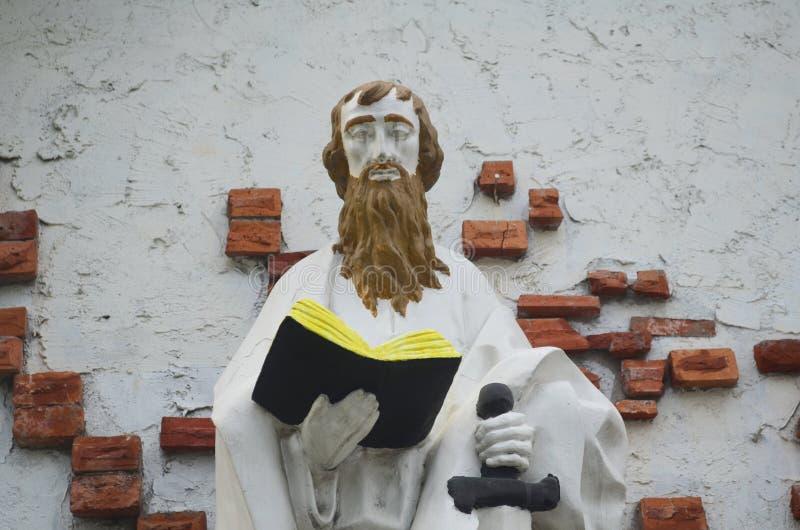 Escultura em uma capela em São Fernando, Pampanga, Filipinas foto de stock