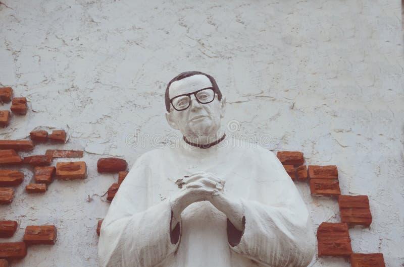 Escultura em uma capela em São Fernando, Pampanga, Filipinas imagem de stock royalty free
