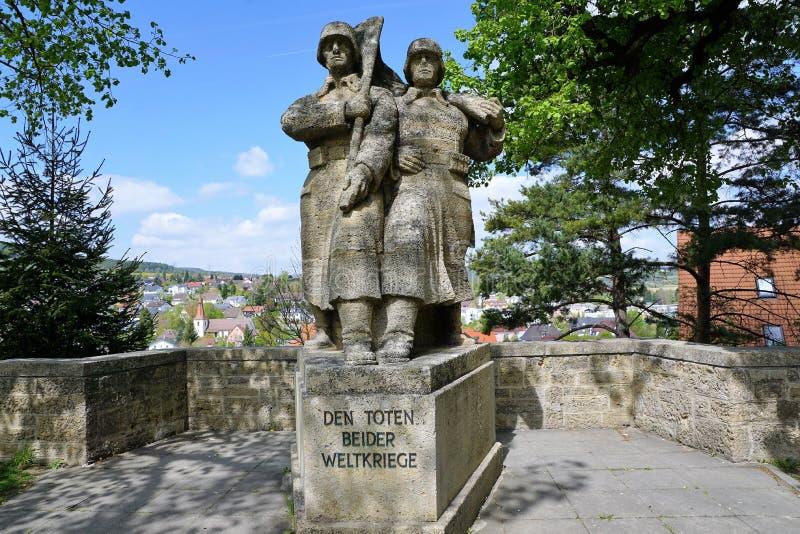 Escultura em uma igreja em Engen em Alemanha imagem de stock