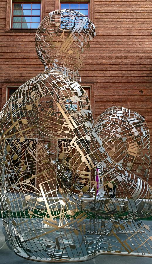 Escultura en Crémona Italia fotografía de archivo