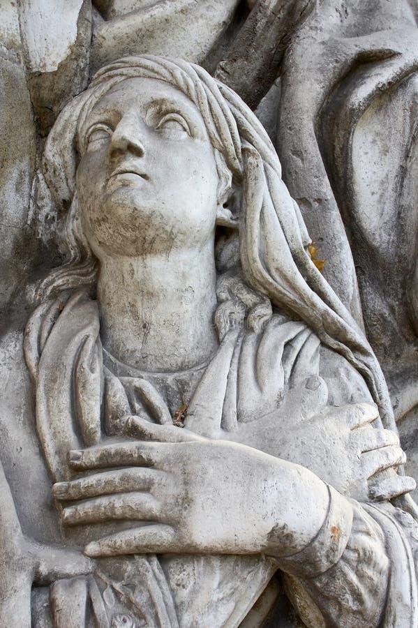 Escultura en el monasterio de Donscoy foto de archivo