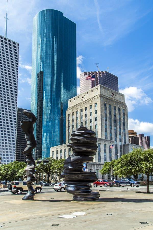 Escultura en Houston imágenes de archivo libres de regalías