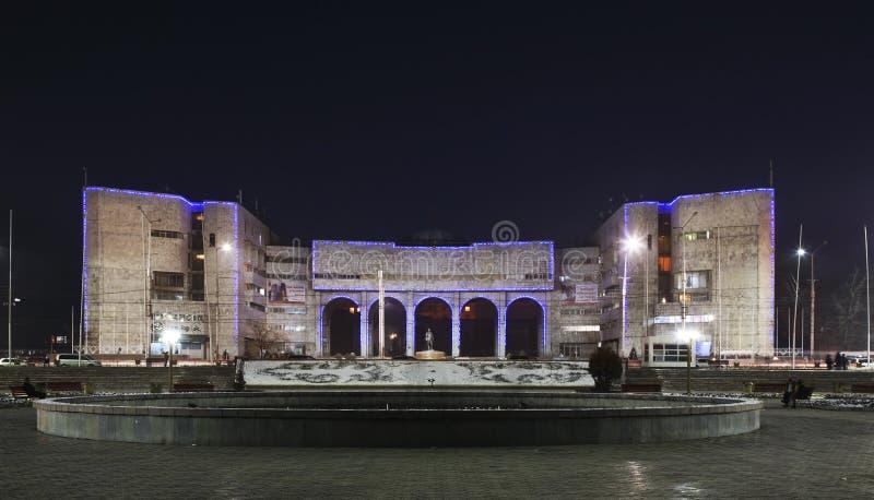 Escultura en Oak Park en Bishkek kyrgyzstan imagenes de archivo