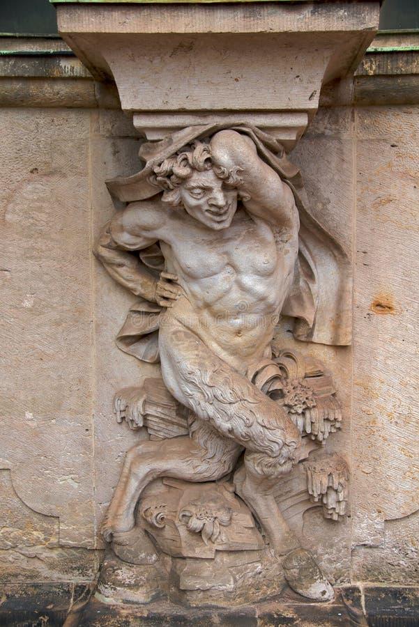 Escultura en Zwinger, Dresden foto de archivo