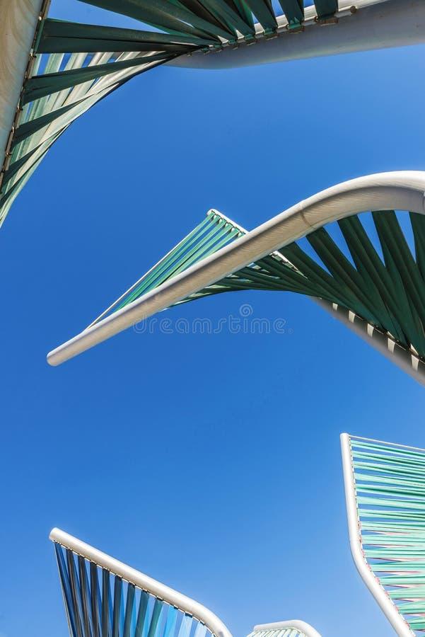 Escultura espiral en Barcelona fotografía de archivo libre de regalías